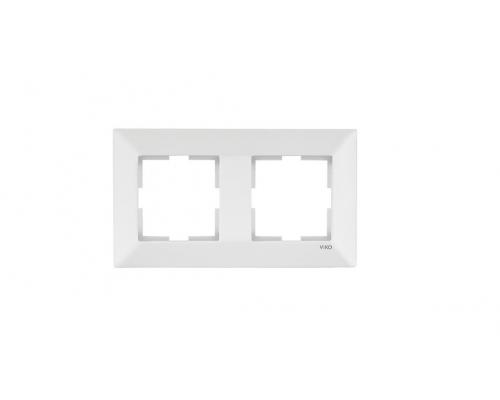 Подвійна рамка VIKO Meridian горизонтальна Білий (90979002-WH)