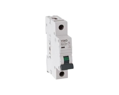 Автоматический выключатель, 1P, 6A, 4,5kA