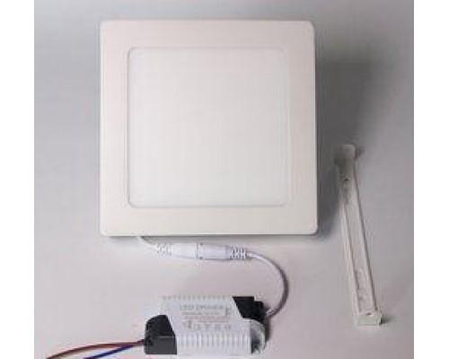 Светильник LUMEN LED 9W 4100K квадрат. 145мм белый накладной