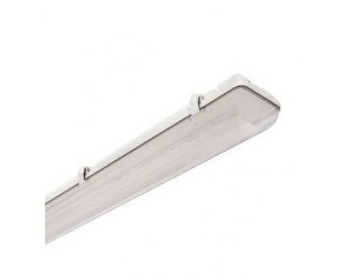 Світильник світлодіодний пиловологозахищений LBW 2х18Вт ІР65 без ламп кліпса металева