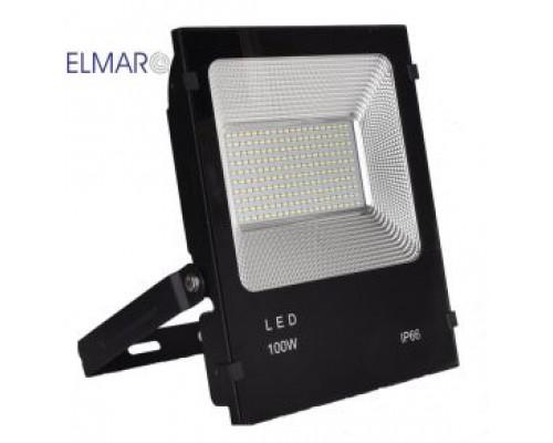 Прожектор LFL 100Вт 6400K SMD IP65 чорний 8500Lm