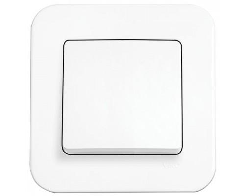 Вимикач 1-й прихований  Rollina, білий,90420001