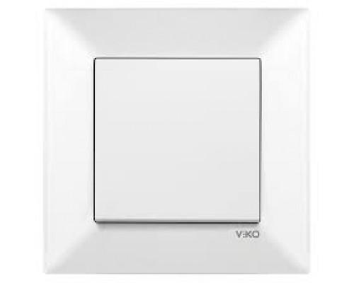 Вимикач 1-й прихованого монтажу, MERIDIAN, біла,90970001-WH